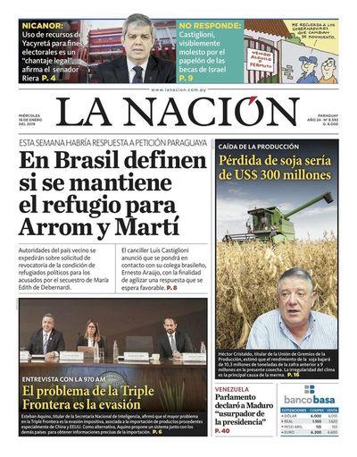 Edición impresa, 16 de enero de 2019