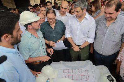Presidente verificó construcción de USF de Horqueta