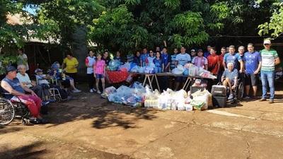 Empleados de TABESA donan alimentos, productos de limpieza e higiene a hogar