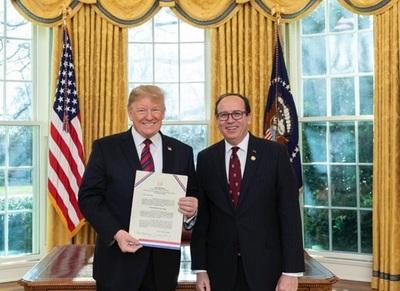 Donald Trump felicita al Gobierno paraguayo por romper relaciones con Venezuela