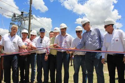 Jefe de Estado habilitó ampliación de Subestación de la ANDE en Loma Plata