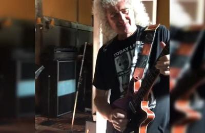 El 'detrás de escena' de Brian May mostrando cómo se toca el solo de 'Bohemian Rhapsody'