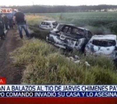 Asesinan a tiros al tío del narco Jarvis Chimenes Pavão