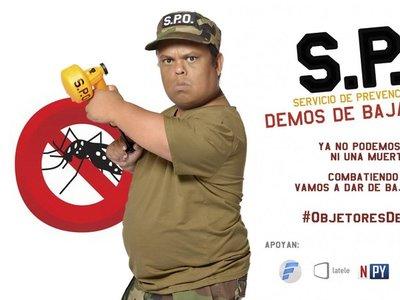 Mortero Bala encabeza campaña para darle de baja al DENGUE