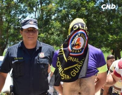 """Detienen a Gregorio """"Papo"""" Morales en Villarrica"""