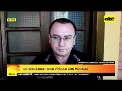 Detenida dice tener vínculo con Morales 1