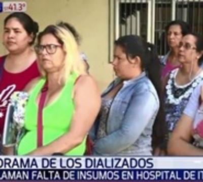 Pacientes dializados se manifiestan por falta de insumos en Itauguá