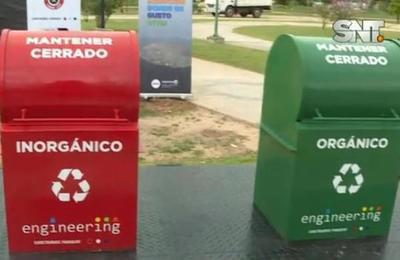 Inauguran basureros subterráneos en la Costanera de Asunción