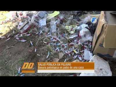 Hallan basura patológica en una obra en Asunción