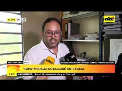 Papo Morales no declaró ante fiscal