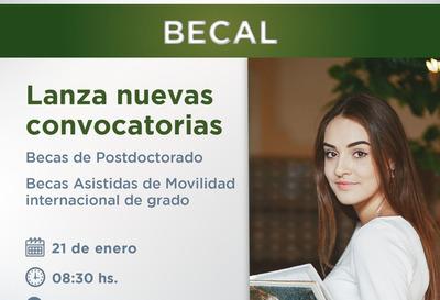BECAL lanzará dos nuevas convocatorias para el exterior