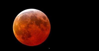 Eclipse lunar de sangre podrá verse desde la medianoche del lunes