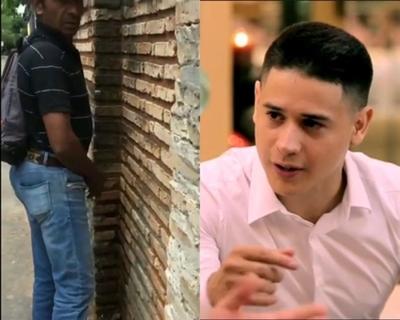 """Ex """"Calle 7"""" escrachó a hombre que orinó en la vía pública"""