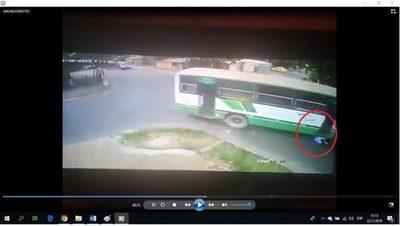 Persona arrollada por un transporte de pasajeros no fue en San Lorenzo