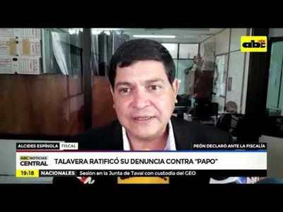 Talavera ratificó su denuncia contra Papo