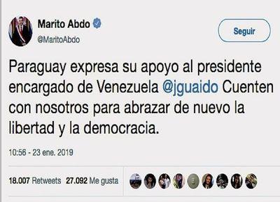 Miles de reacciones internacionales tras autoproclamación de Guaidó