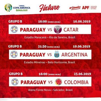 Paraguay comparte el Grupo 2 con Argentina, Colombia y Qatar