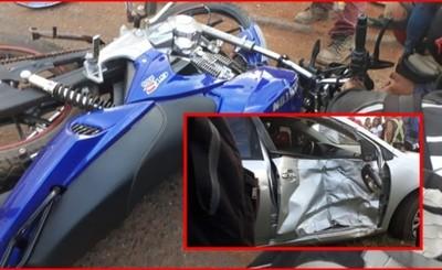 Motociclista muere luego de embestir contra un vehículo en el km 12