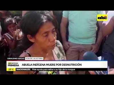 Abuela indígena muere por desnutrición