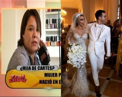 """Supuesta hija """"no reconocida"""" de Cartes habló de la boda de Juan Cartes"""