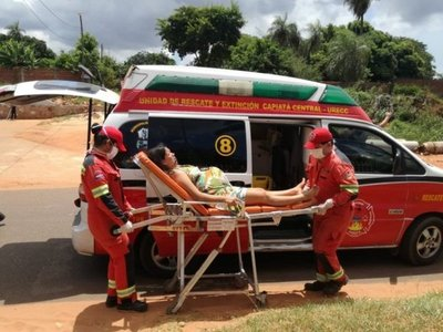 Ambulancia de Capiatá se convirtió en sala de parto