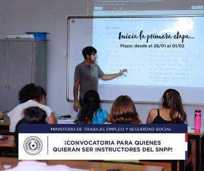 SNPP realiza convocatoria para instructores