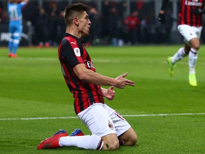 Piatek marcó un doblete en la clasificación del Milan