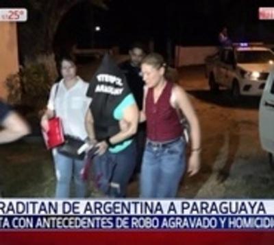 Extraditaron de Argentina a peligrosa delincuente