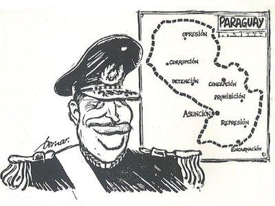 Los dibujos franceses contra Stroessner y en apoyo a Paraguay