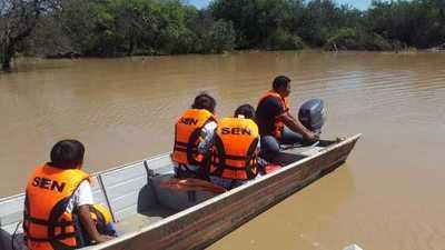 SEN brinda asistencia tras desbordes en zona del Pilcomayo
