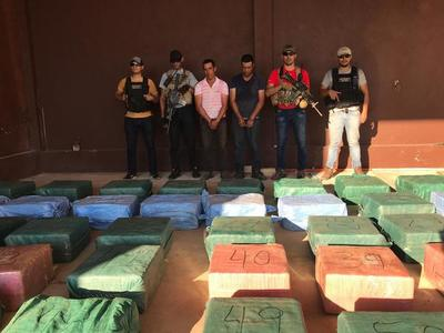 Cae cargamento de cocaína en Yby Yaú