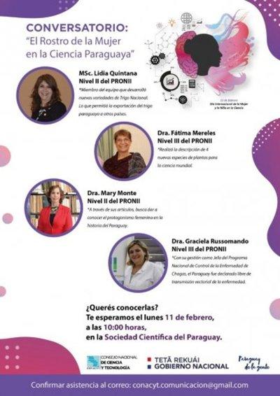 """Conversatorio """"El rostro de la mujer en la ciencia paraguaya"""""""
