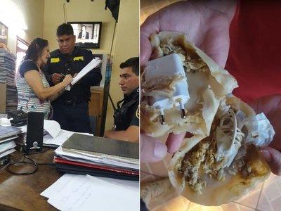 Planeó ingresar a cárcel partes de cargador dentro de empanadas