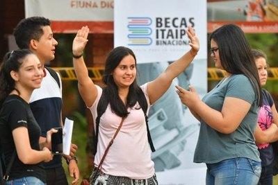 Resultados de exámenes para la beca Itaipú