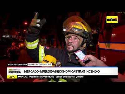 Mercado 4: Pérdidas económicas tras incendio