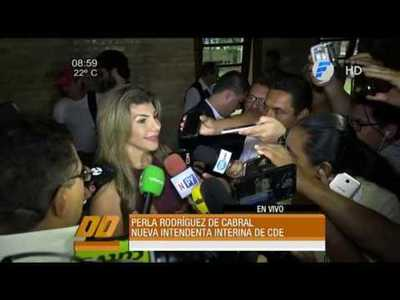 Perla Rodríguez de Cabral es la nueva intendenta interina de CDE
