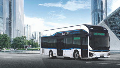 Hyundai presentó al mundo su primer modelo de autobús eléctrico