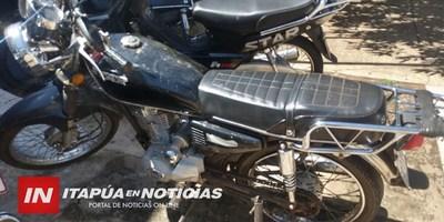RÁPIDA ACCIÓN DEL GRUPO LINCE RECUPERA UNA MOTOCICLETA HURTADA.
