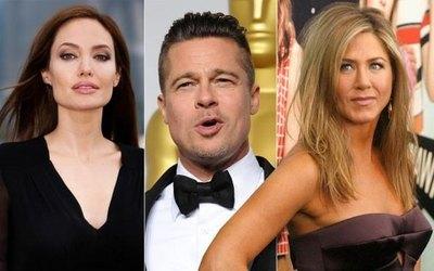 Angelina olía que su ex y Aniston hablaban