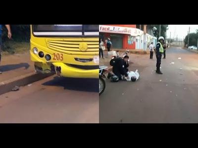AHORA: GRAVE ACCIDENTE EN EL BARRIO SANTA MARIA