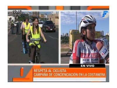 """""""Respetá al ciclista"""": Micreros pedalearon para saber lo que se siente"""
