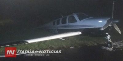ATERRIZAJE FORZOSO DE AVIONETA EN EL AEROPUERTO ENCARNACIÓN.