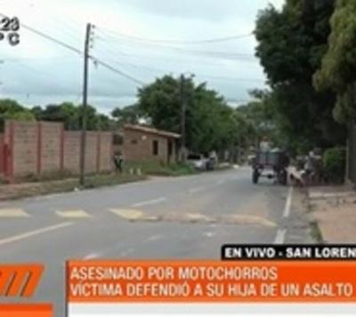 Motochorros matan a un hombre que intentó defender a su hija