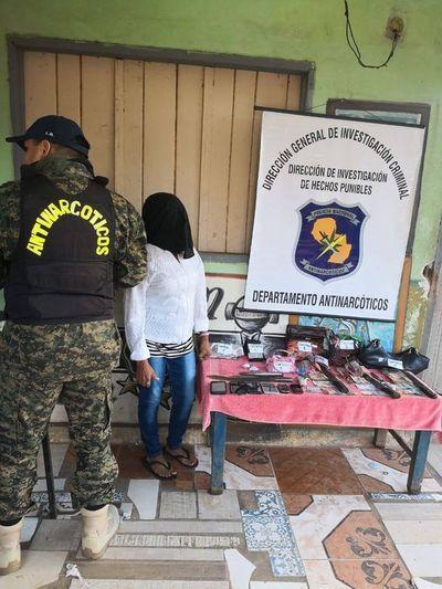 Antinarcóticos detienen a mujer que vendía crack en Asunción