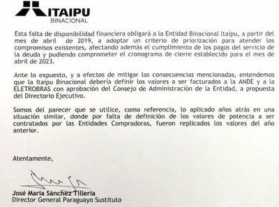 """Itaipú alerta sobre """"consecuencias"""" de la crisis entre ANDE y Eletrobras"""