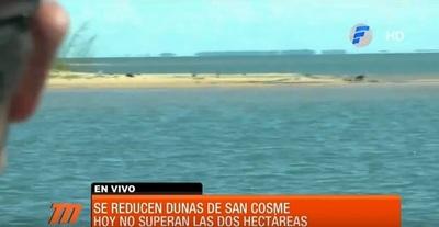 Se reduce el área de las dunas de San Cosme