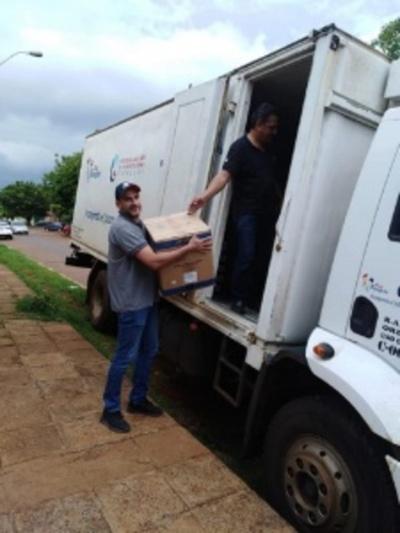 Alto Paraná: servicios sanitarios recibieron 200 mil dosis de vacunas