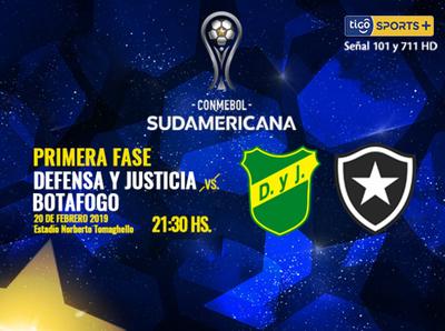 Defensa y Justicia vs. Botafogo es la atractiva cita