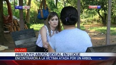 Violan a mujer y la dejan atada a un árbol