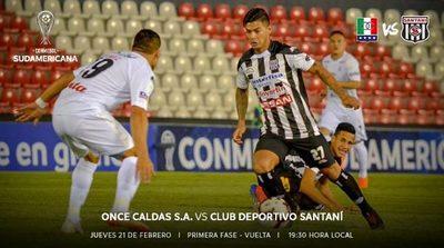 Once Caldas y Santaní definen un cupo a Segunda Fase de la Sudamericana